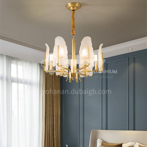 Light luxury copper living room lamp modern creative Nordic bedroom crystal dining room lamp-ND8051