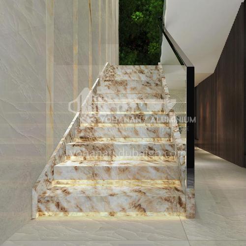 Natural yellow light luxury jade staircase O-HE40B