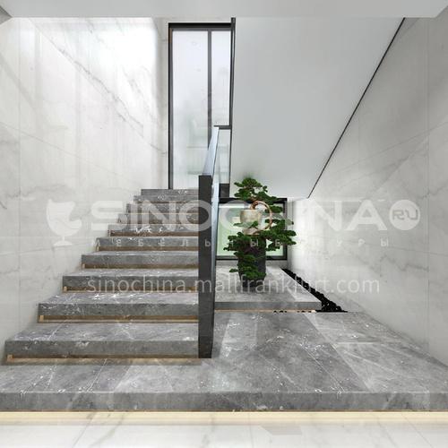 Natural gray modern marble staircase M-YA03H