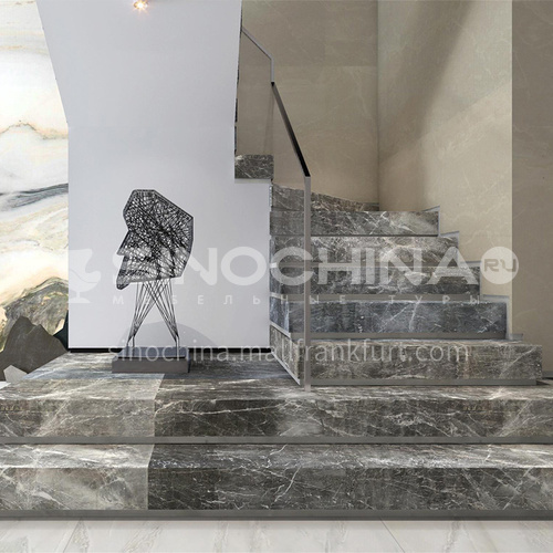 Natural gray modern marble staircase M-BA69X
