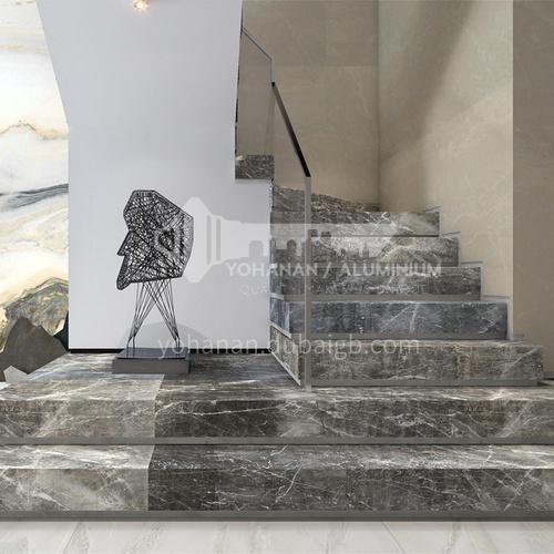 Natural gray modern marble staircase M-BA69X