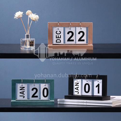 Countdown small calendar decoration creative wooden diy page flip desk calendar wooden calendar decoration BJ057
