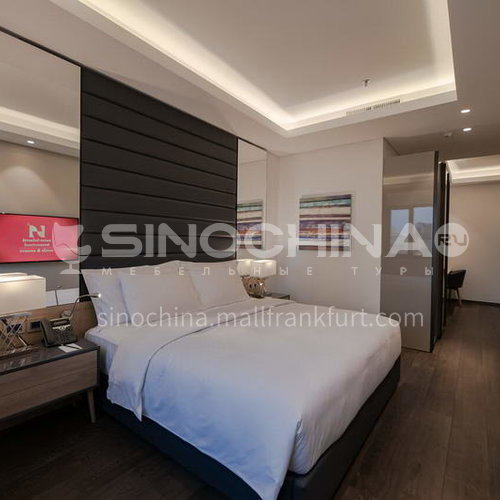 FFB0018 Custom design hotel furniture and modern wooden bedroom four star hotel furniture set, customized products, please contact customer service
