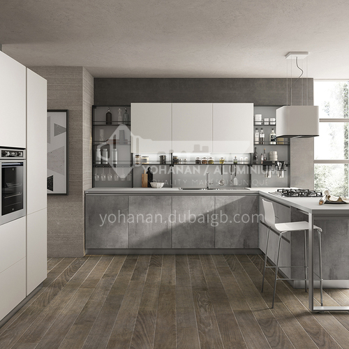 Modern style melamine with particle board simple design kitchen cabinet GK-918