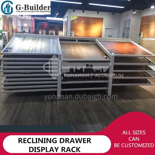 Double row wooden floor display rack