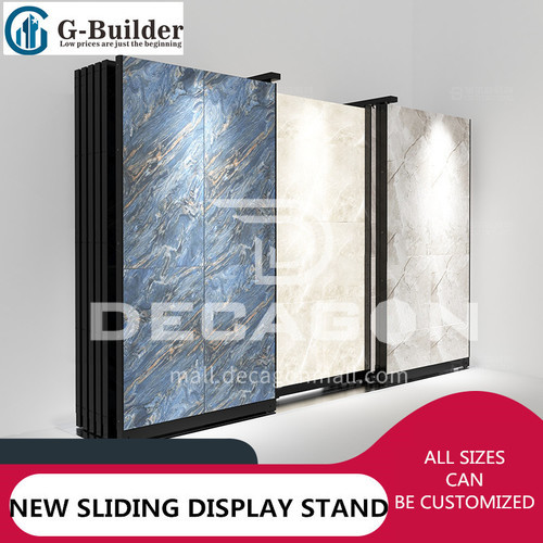 Stainless steel display rack tile movable pulley