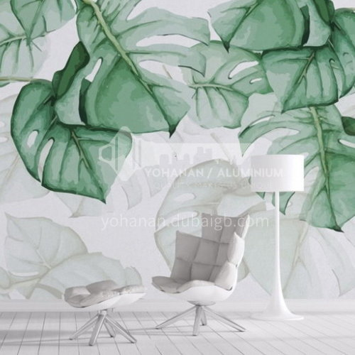 Forest style tree animal graphic design TV background wall paper modern retro living room mural BF-BJY1