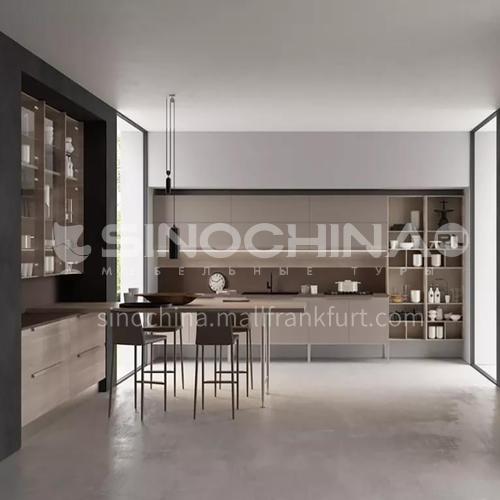 Modern Melamine with particle board kitchen open kitchen-GK-934