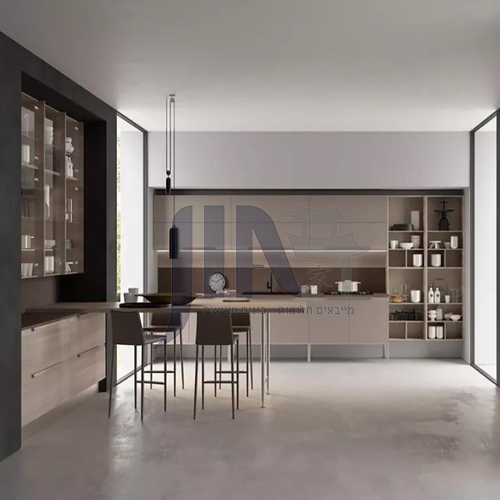 Modern Melamine with particle board kitchen open kitchen-GK-934