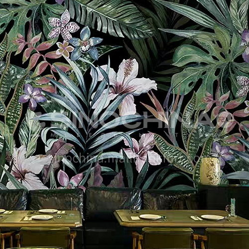 Forest style tree animal graphic design TV background wall paper modern retro living room mural BF-BJY2