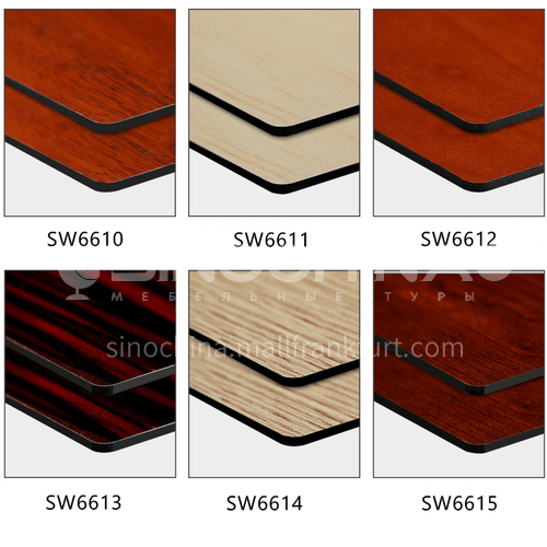 Wood grain aluminum composite panel