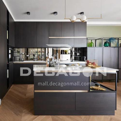 Modern kitchen simple design melamine with particle board kitchen-GK-940