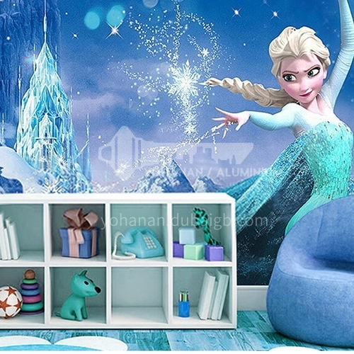 Children's fairy tale style   ice and snow series  TV background wall bedside background wall paper  FC-BXQY