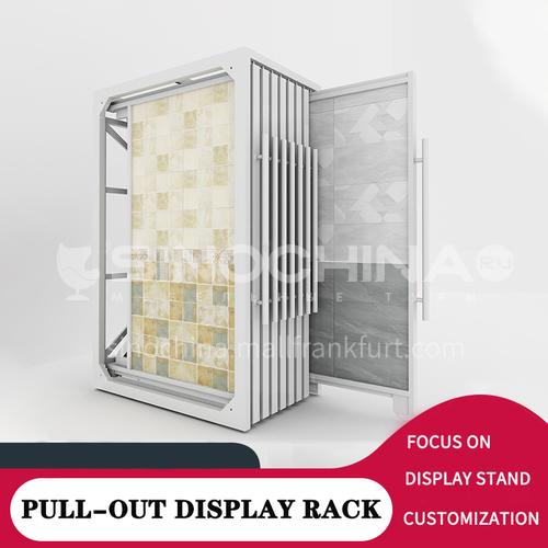 Ceramic tile multifunctional display rack