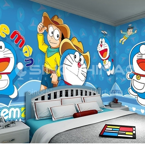 Children's cartoon style Doraemon series TV background wall bedside background wall paper  FC-DLAM