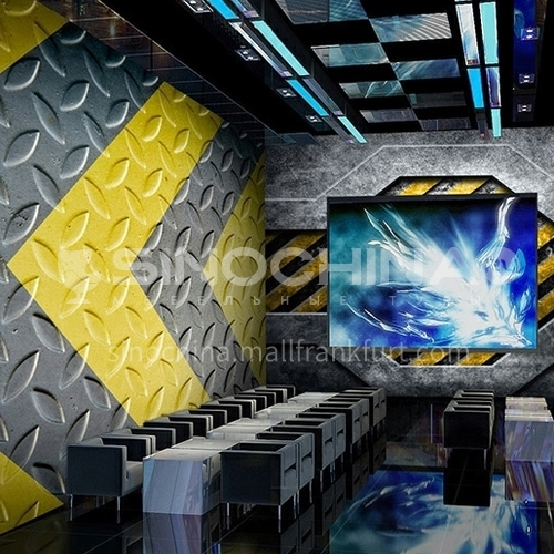 Industrial style steel plate series TV background wall bedside background wall shop decorative wallpaper   JSGB