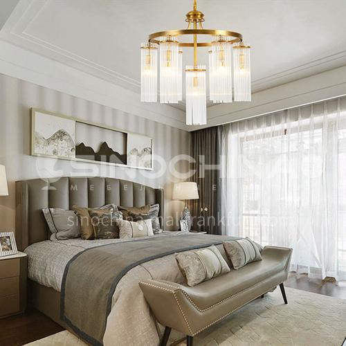 European style chandelier living room lamp luxury atmosphere crystal lamp restaurant bedroom hall modern luxury lamp BLSD-9038