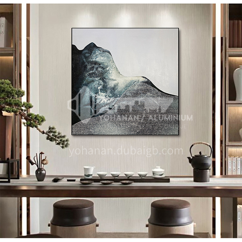 Modern light luxury simple living room background decoration painting bedroom entrance abstract mountain scenery hand-painted texture oil painting ZWS-0000011