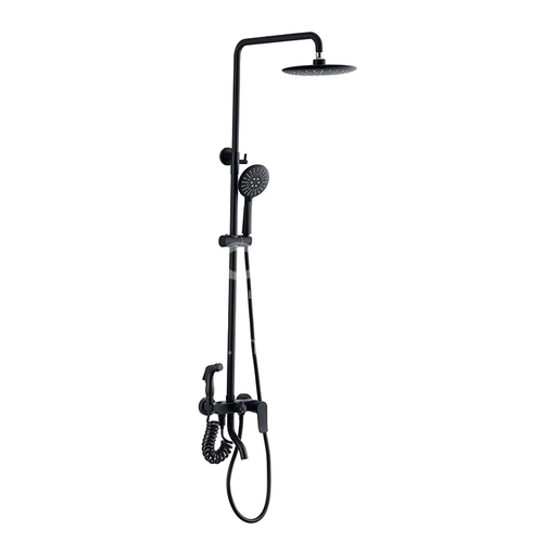 Black four functions showerhead/ spray gun showerhead