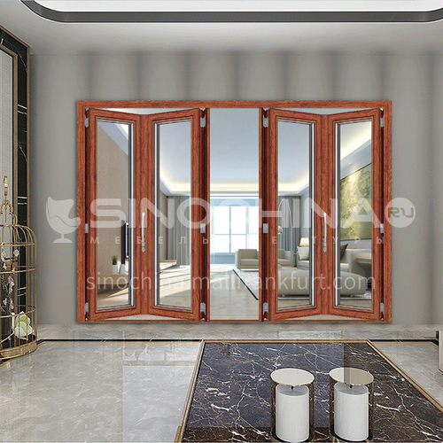 B 2.0mm hot sale high quality aluminum alloy double-layer tempered transparent glass folding balcony door