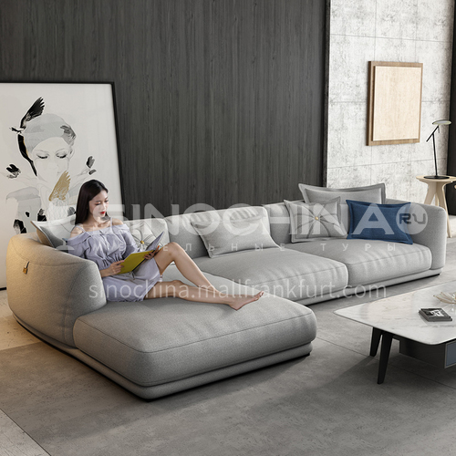 KD-YJ003 Living room leisure and versatile minimalist Nordic modern linen fabric sofa + sponge 40 density, fine linen fabric, solid wood tripod