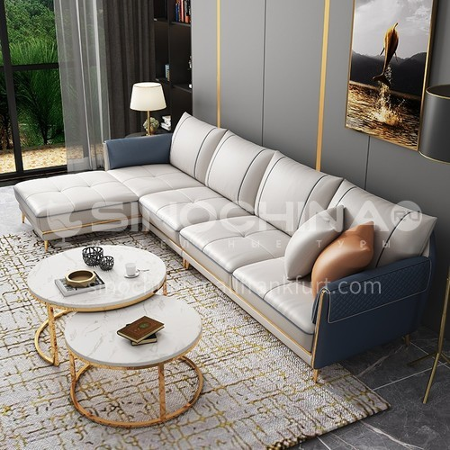KD-QS007   Light luxury sofa combination solid wood frame high-end living room furniture Italian style