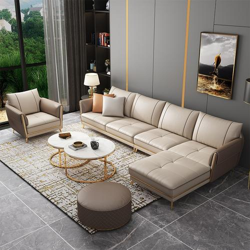 Kd Qs007 Light Luxury Sofa Combination Solid Wood Frame High End Living Room Furniture Italian Style