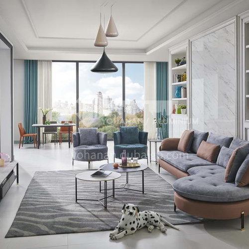Living room modern minimalist fabric sofa, technical cloth multifunctional sofa, living room size, space capsule fabric sofa combination