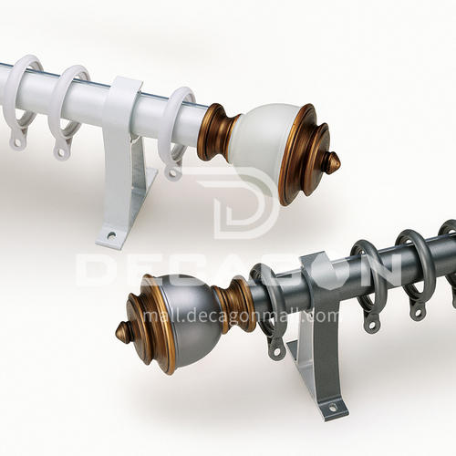 Modern simple European aluminum alloy Roman rod fluorocarbon series QWLM-28492