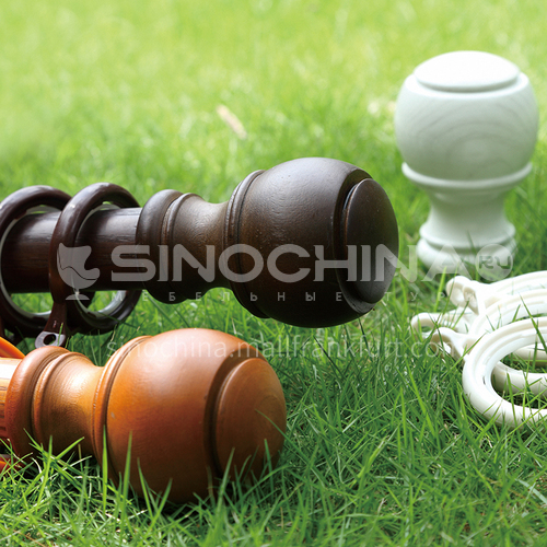 Modern and simple style aluminum alloy Roman rod natural wood texture series QWLM-28305