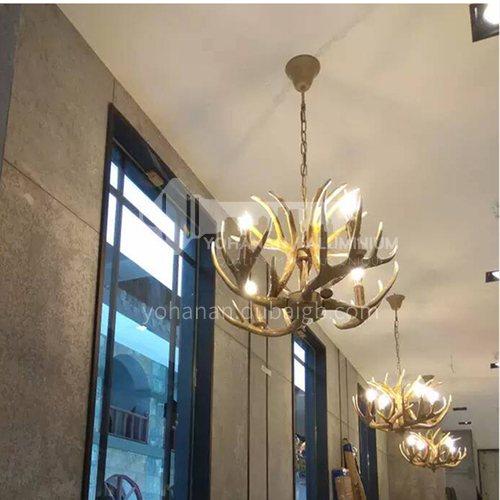 American country retro industrial style antler chandelier creative personality hot pot restaurant living room bar decorative lamps WYN-2538