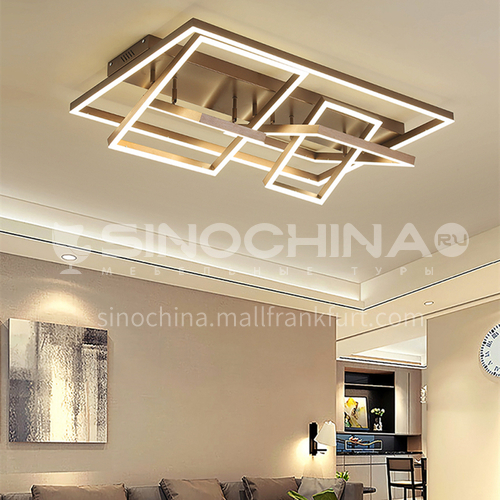 Bedroom lamp golden square simple modern personality creative study led lamp fashion light luxury warm romantic room lamp QM-QY2042