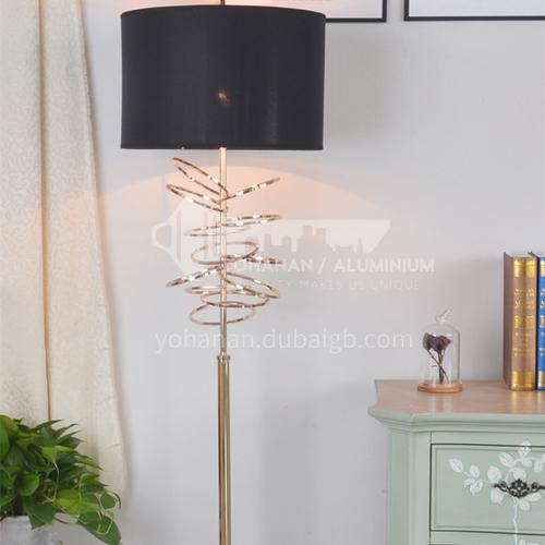 Black modern living room floor lamp bedroom study hall lamp large lampshade cool fashion simple lighting XYJJ-0519