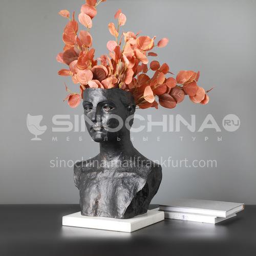 Cast iron missing corner figure sculpture European style creative hotel club large head sculpture decoration FX-ZT10008