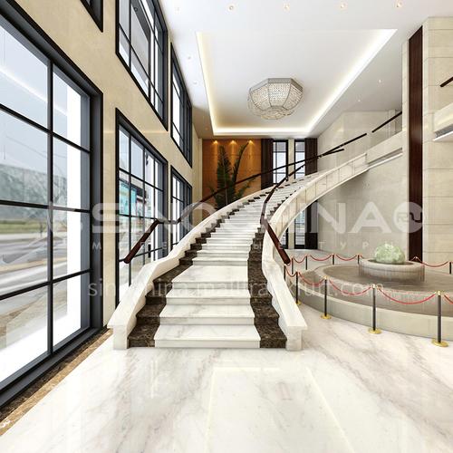 Natural white modern marble staircase M-G099H