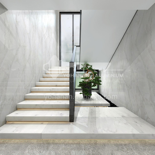 Natural white modern hot-selling marble staircase M-G100T