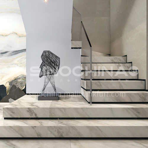 Natural white modern hot sale marble staircase M-GA00H