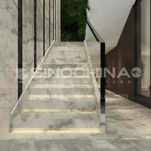 Natural white modern hot sale marble staircase M-GA90H