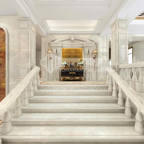 Natural beige European style marble staircase M-XA02M
