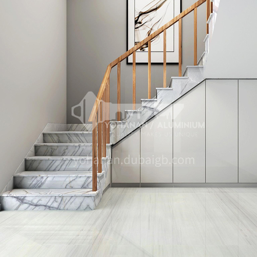 Natural white modern luxury marble staircase M-XA70M staircase