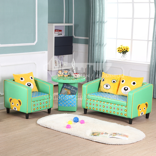 BF-Children Fashion Wooden Frame Structure PVC Leather Sofa