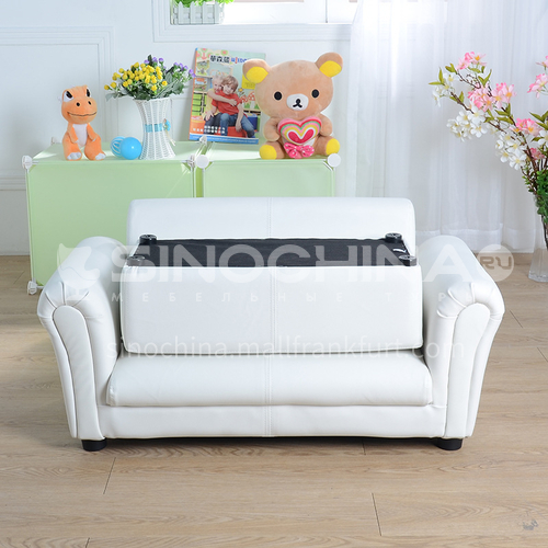 BF-Children's solid wood frame, plastic feet double straight back fashion sofa