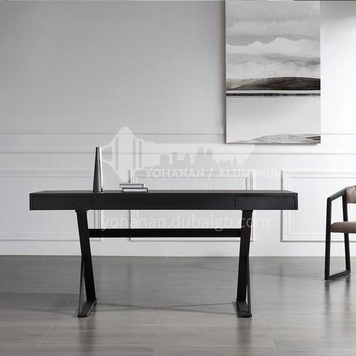 JY-SD1502-Italian minimalist desk designer study desk computer desk high-end smoked black oak craft