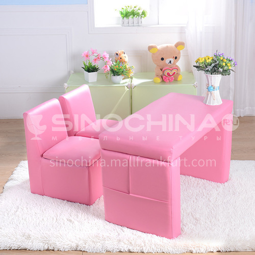 BF-SF-466- Wooden frame structure, plywood, 20 density sponge, PVC fabric, white nails, sofa legs, children's sofa