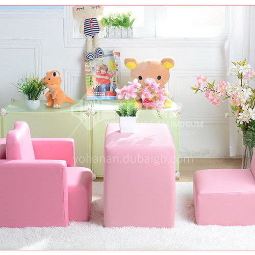BF-SF-512 Children's solid wood frame PVC fabric fashion heart-shaped multifunctional sofa
