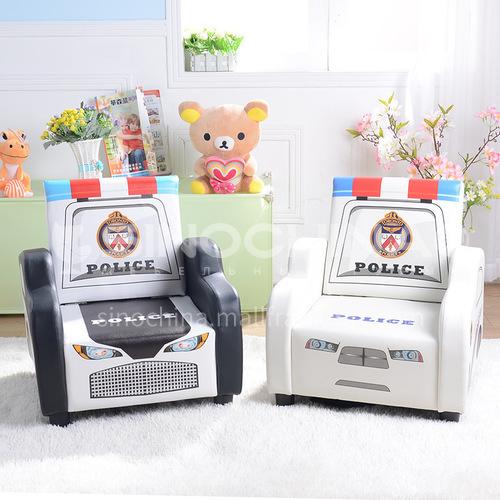 BF-SF-554 Children's solid wood frame density foam plastic feet fashion police car sofa