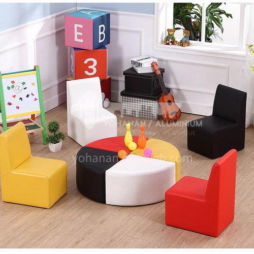 BF-Children's solid wood frame PVC fabric fashion sofa