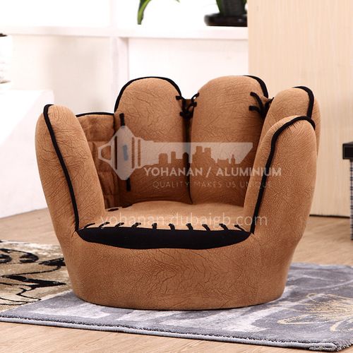 BF-fashionable five-finger sofa with solid wood feet for children wooden frame structure