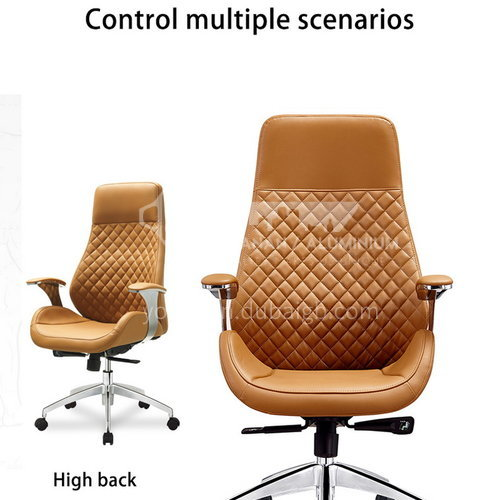 CX-AM1603A B C High-end fashion leather cushion, metal office chair with wheel tripod