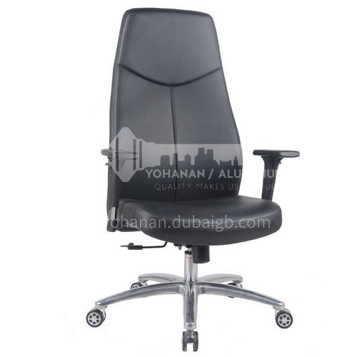 CX-AM1706 A B C High-end fashion leather cushion metal office chair with wheels tripod
